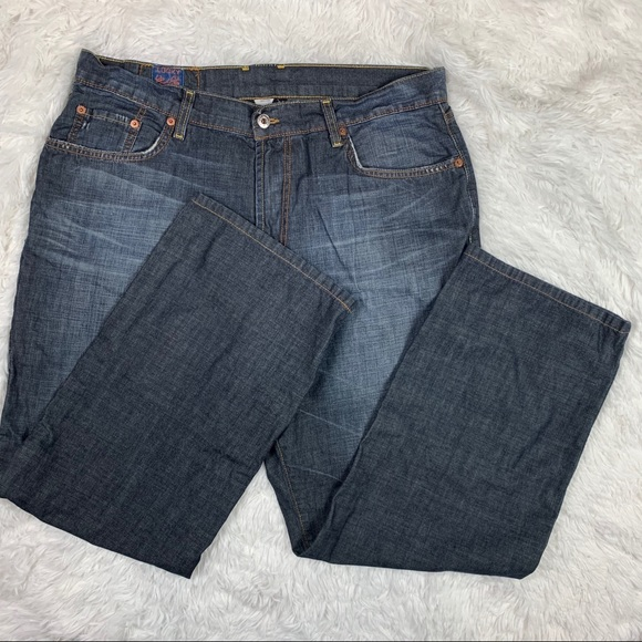 Lucky Brand Distressed Lightweight Mid Rise Jeans